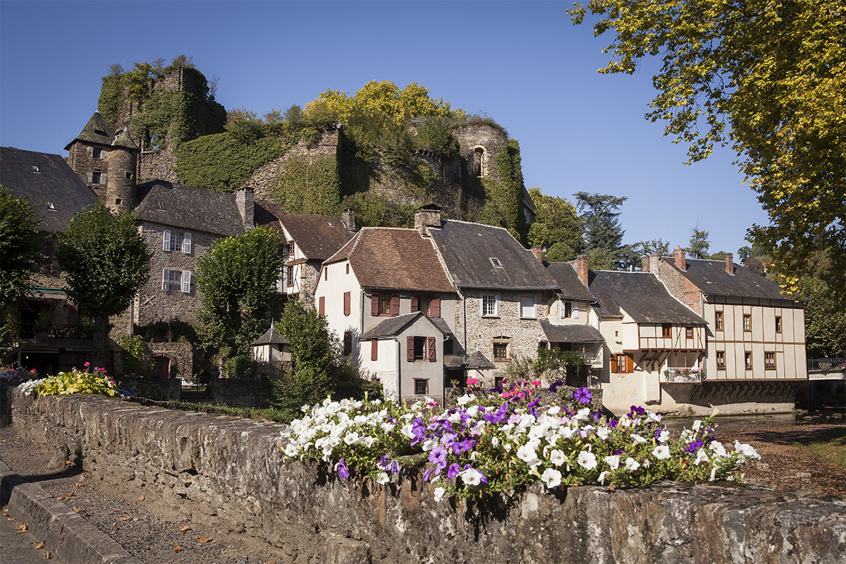The beautiful village of Saint-Robert in Dordogne Valley in France