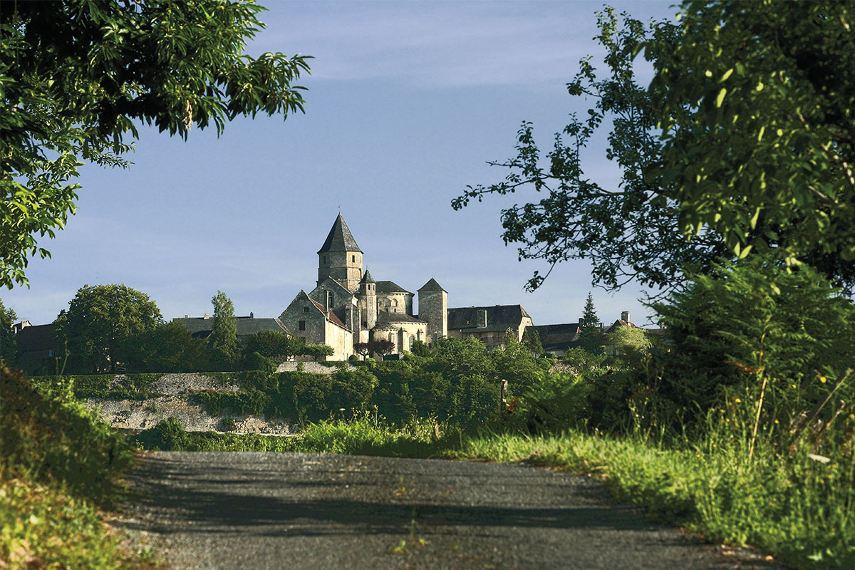 The small village of Saint-Robert in Dordogne Valley in France