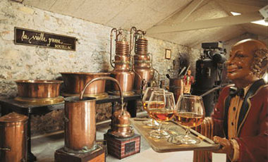 The Vieille Prune museum of the Louis Roque distillery in Dordogne Valley in France