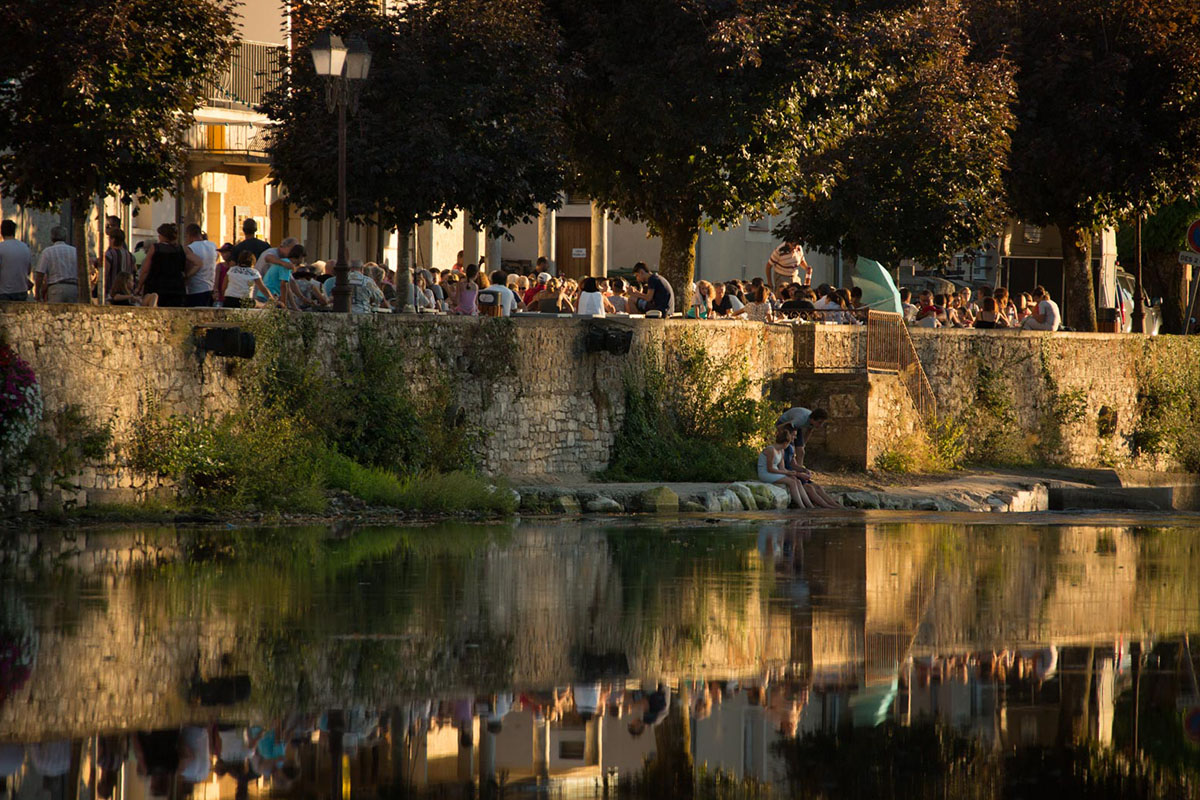 The Bistrots quais event in Bretenoux in Dordogne Valley in France
