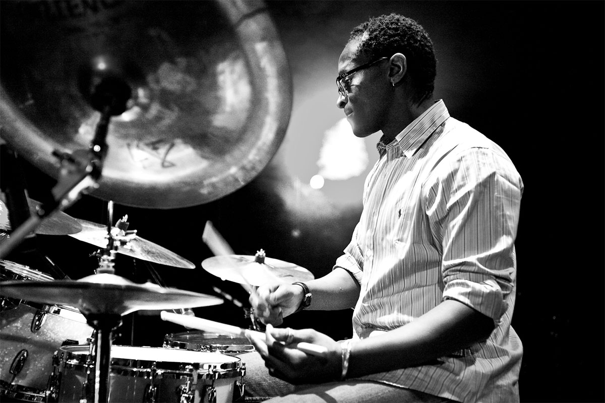 Roger Biwandu for the Saint Emilion Jazz Festival in Dordogne Valley in Fra