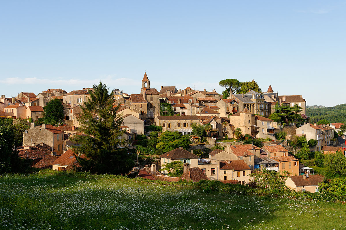 The village of Belvès in Dordogne Valley in France