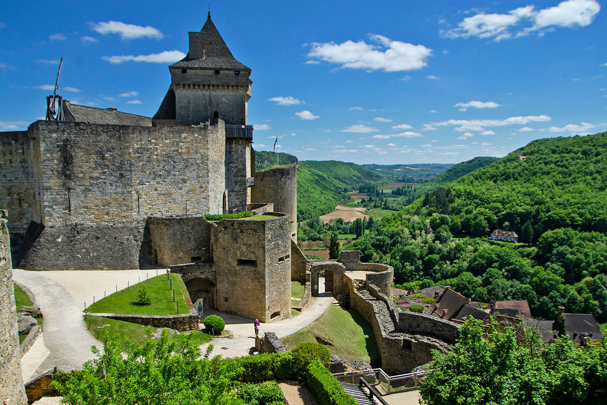 The Castle of Cstelnaud-la-Chapelle in Dordogne Valley in France