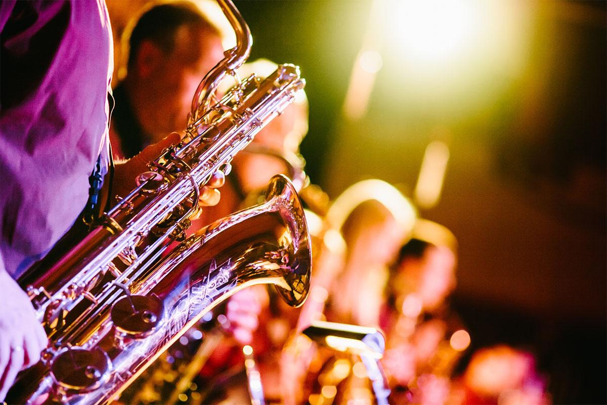 Jazz concert in Dordogne Valley in France