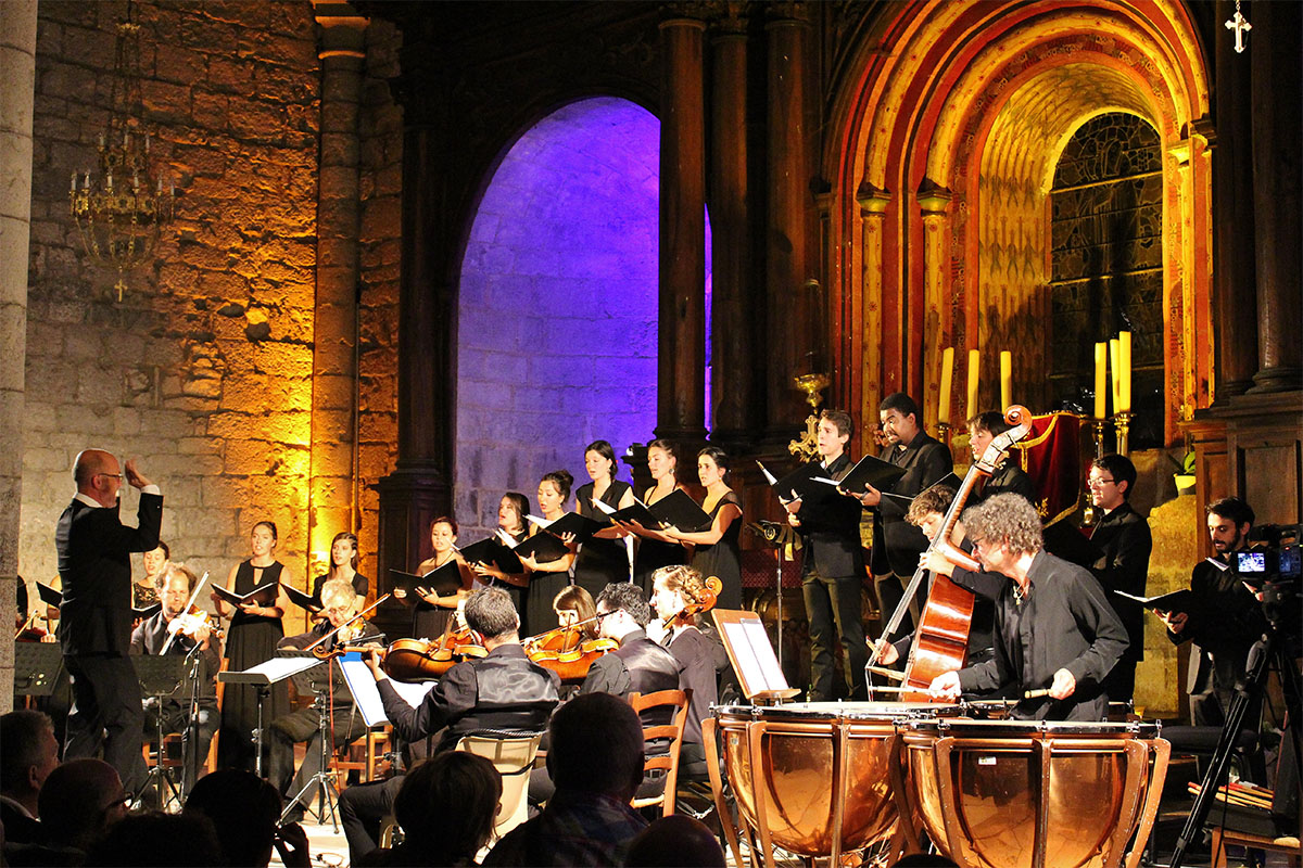 The Ensemble Baroque of Toulouse at the Rocamadour Festival in Dordogne Valley in France