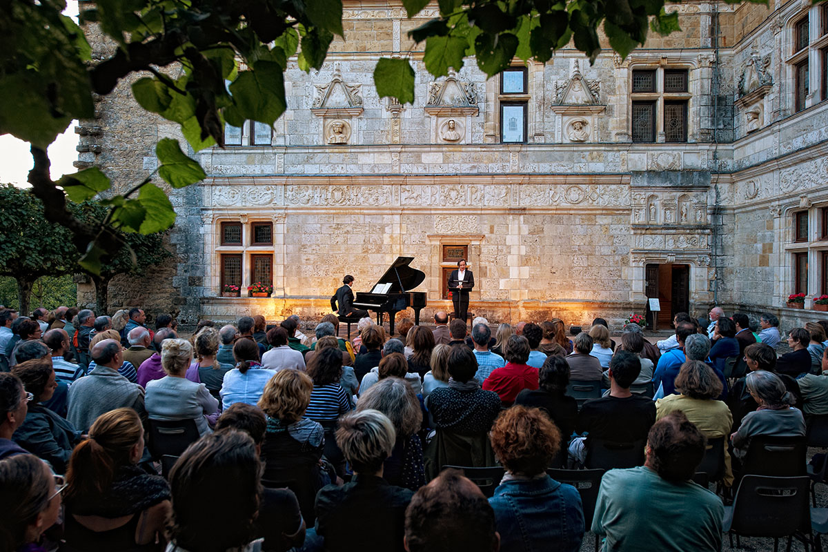 Concert for the Saint-Cere festival in Dordogne Valley in France