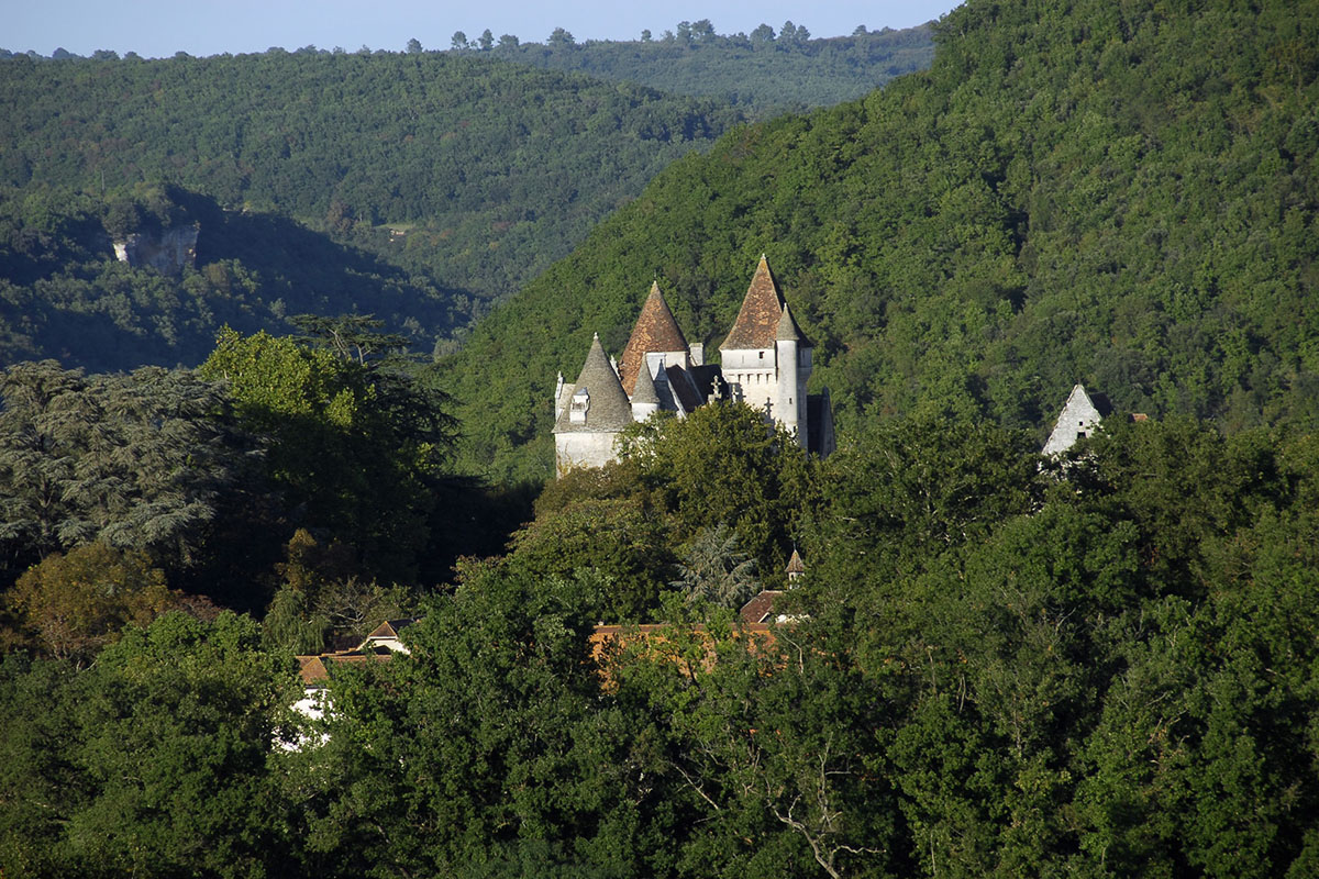 The Château des Milandes in Dordogne Valley in France