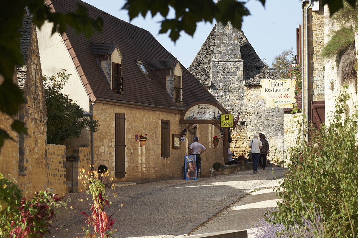 The village of Saint-Amand-de-Coly in Dordogne Valley in France