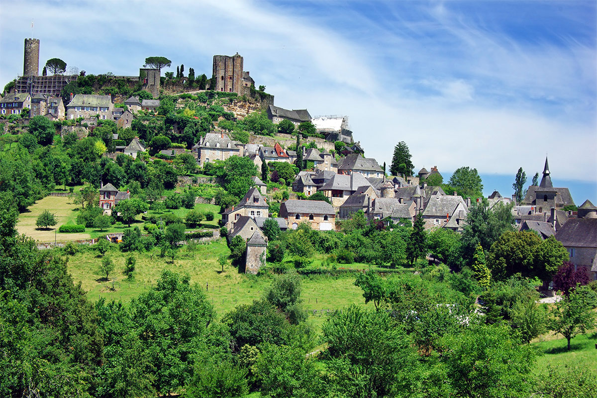 The beautiful village of Turenne in Dordogne Valley in France