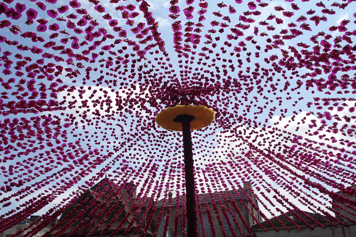 Felibre festival in Beaumont-du-Périgord in Dordogne Valley in France