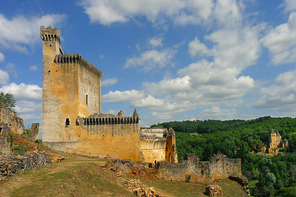 The Château de Commarque in Dordogne Valley in France